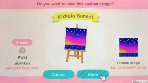 Códigos Animal Crossing de cuadros e imágenes 3