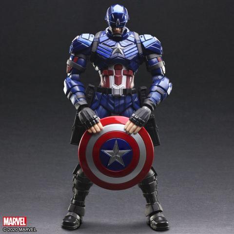 Figura Capitán América Play Arts Kai por Tetsuya Nomura de Square Enix