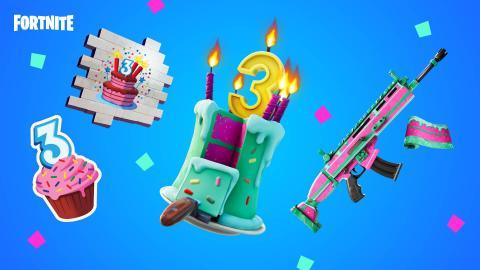 Tercer cumpleaños fortnite
