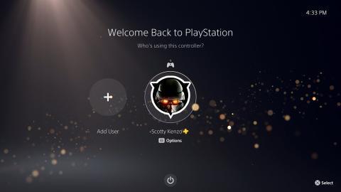 Interfaz de PS5