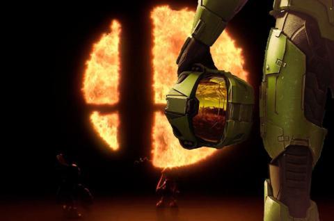 Master Chief Halo Smash Bros