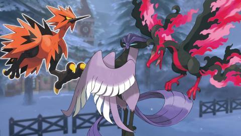 Pokemon espada escudo articuno zapdos moltres