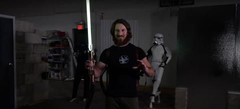 Sable láser de Star Wars real