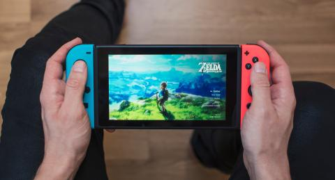 Nintendo Switch con Zelda