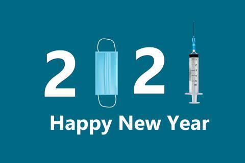 Felicitaciones divertidas de año nuevo 2021 para WhatsApp