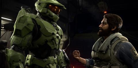 Un momento del Jefe Maestro en Halo: Infinite
