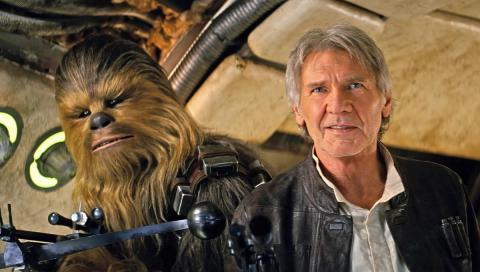 Han Solo y Chewbacca en Star Wars Episodio 7