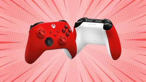 Mando Xbox Series X rojo