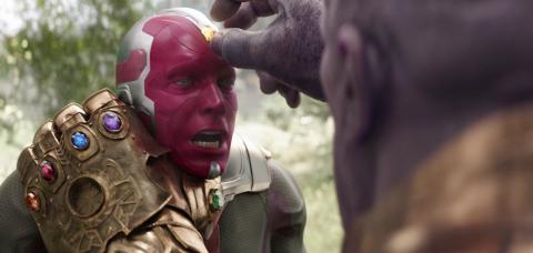 La muerte de Vision en Vengadores Infinity War