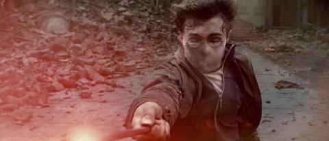 Harry Potter llevando mascarilla