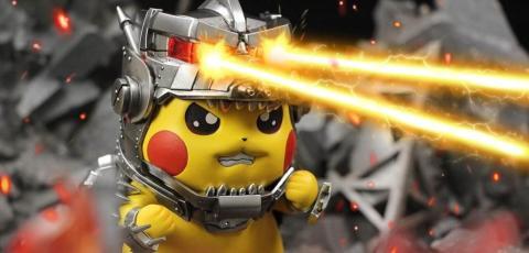 Pikachu disfrazado de Mechagodzilla