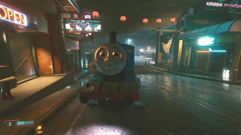 Thomas and his friends have gone to have fun in Night City with this fantastic mod for Cyberpunk 2077