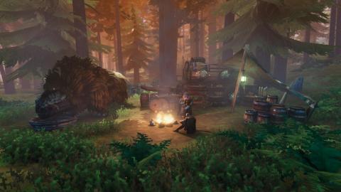 Busca un buen sitio para construir tu campamento en Valheim