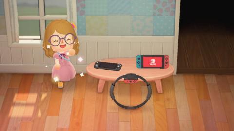 Switch Lite en Animal Crossing