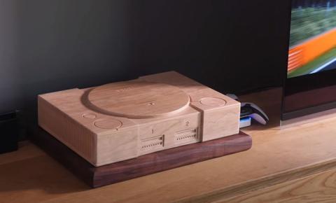Carcasa PlayStation de madera para PS5