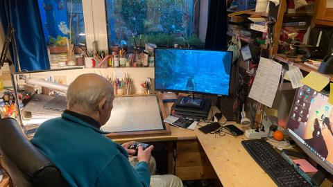 Un jubilado se hace viral tras retomar Skyrim