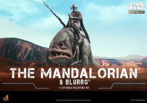 Hot Toys - The Mandalorian y Blurrg