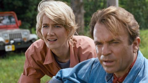 Jurassic Park - Laura Dern y Sam Neill