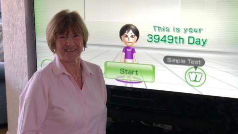 Abuela Wii Fit