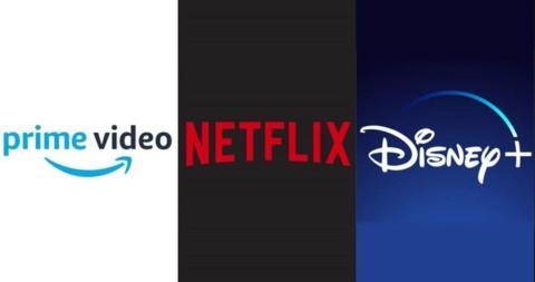 Amazon Prime Video, Netflix y Disney Plus
