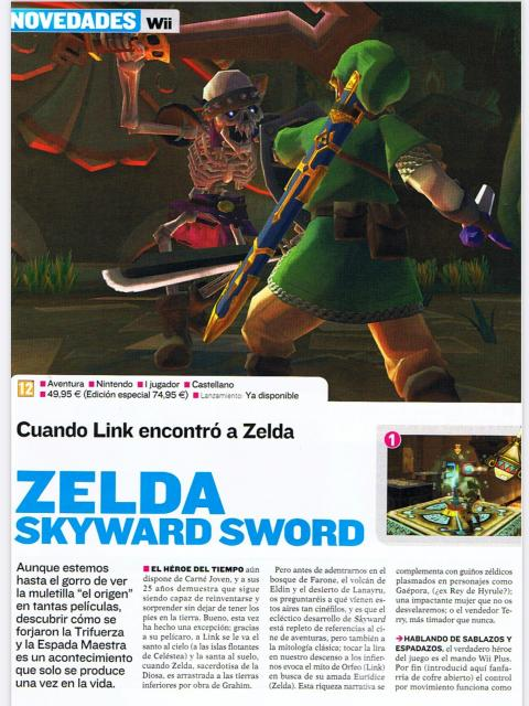 Análisis Zelda Skyward Sword Wii