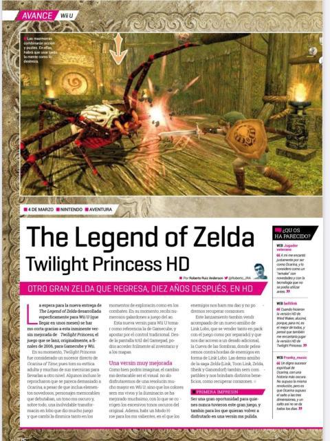 Avance y reportaje Twilight Princess