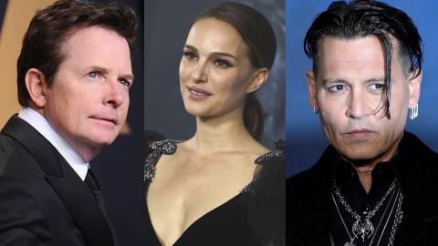 Michael J Fox, Natalie Portman y Johnny Depp