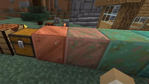 Minecraft cobre oxidación