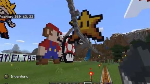Minecraft montaña rusa