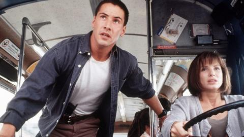 Speed: Máxima potencia - Keanu Reeves y Sandra Bullock