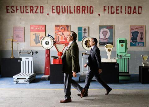 Escena de película El buen patrón con Javier Bardem