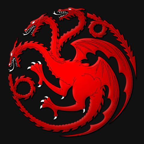 Juego de Tronos - emblema de los Targaryen