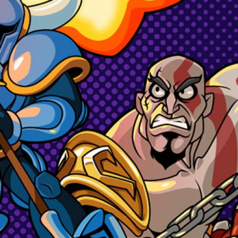 Kratos de God of War en Shovel Knight