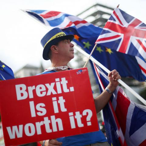 <div>Una manifestación anti Brexit en Londres.</div>