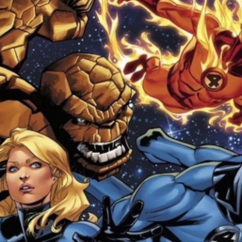 <div>Cuatro fantásticos comic</div>