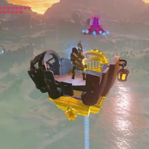 Guardián volador en Zelda Breath of the Wild