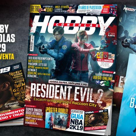 Hobby Consolas 329, a la venta con pósters de Resident Evil 2 y Battlefield V