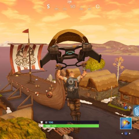 Visita un barco vikingo, un camello y un autobús de batalla estrellado en Fortnite