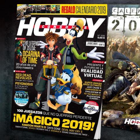 Hobby Consolas 330, ya a la venta con calendario de 2019 y Kingdom Hearts III en portada