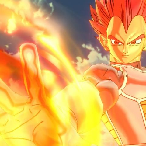 Vegeta Super Saiyan God en Xenoverse 2