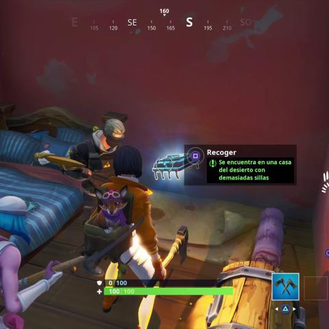 Fortbyte #16 se encuentra en una casadel desierto con demasiadas sillas