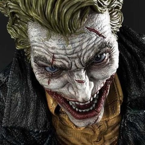 El Joker, más impactante que nunca en este diseño para estatua de Lee Bermejo