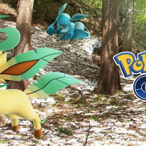 Leafeon y Glaceon en Pokémon GO
