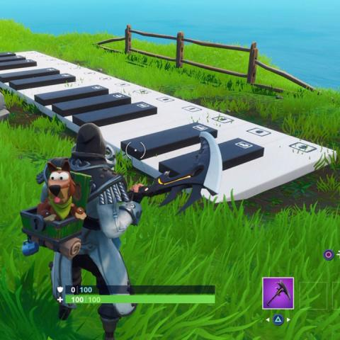 Piano muy grande en Fortnite