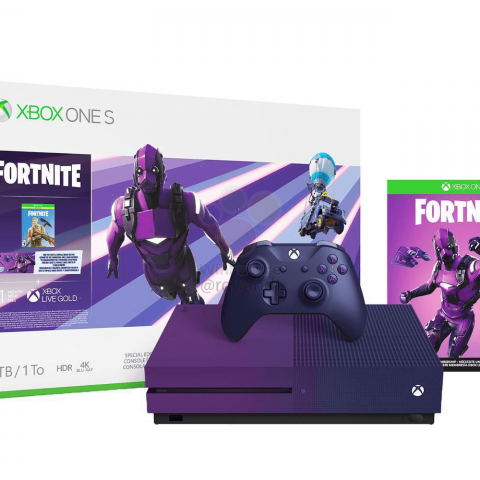 Xbox One S morada Fortnite