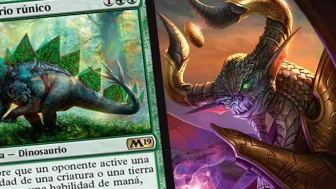 Armasaurio Rúnico - Carta exclusiva de la colección M19 de Magic
