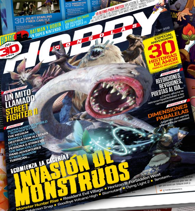 Hobby Consolas 356, a la venta con Monster Hunter Rise y otros juegos de monstruos en portada