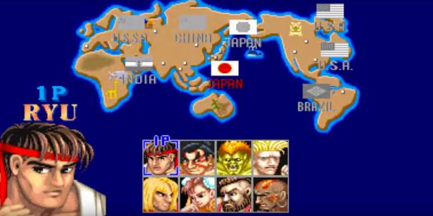 Mapa de Street Fighter