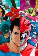 Liga de Justicia/Power Rangers (Cómic) - Cartel
