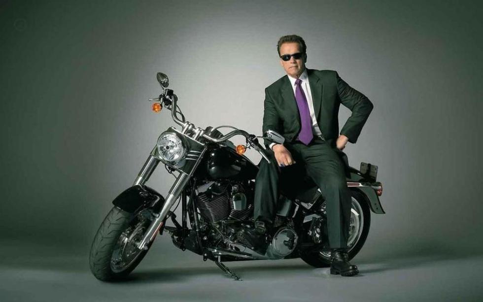 Terminator. Arnold en la Harley.